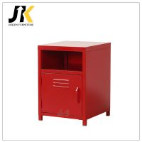 Metal sofa bed side storage locking small steel cabinet with metal handle