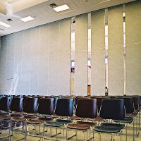Acoustic Sliding Aluminium Door Office Operable Wall Partitions