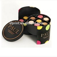 small round tube design paper cardboard box for chocolate packing