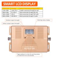 Dual band repeater 2G+3G High gain with LCD intelligent display