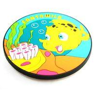 Coaster soft pvc coaster tea cup coaster anti-slip mat customized promotional gifts