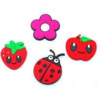 Custom pvc cartoon flower food smiling face animal 3d fridge magnet