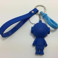 Custom cartoon cute promotional 3d figure 3d characters for keychains bag phone decoration