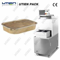 Semi-auto tray sealing machine for ready meal, fast food, fruit