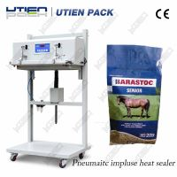 Pneumatic heat sealer sealing machine for plastic aluminum bags