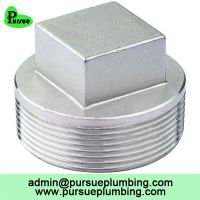 304 316 stainless steel threaded pipe plug end stop