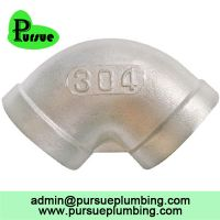 304 316 stainless steel 90 degree female threaded equal elbow