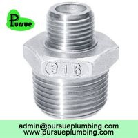 stainless steel male thread reducing nipple China supplier