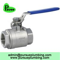 stainless steel 304 316 2 piece ball valve china supplier