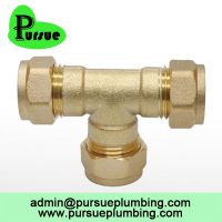 brass compression fitting CxCxC equal tee suppliers