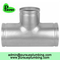stainless steel 304 316 equal grooved tee suppliers