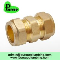 brass compression fitting CxC equal coupler suppliers