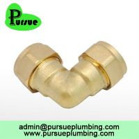 brass compression fitting CxC 90 degree elbow suppliers