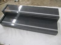 G654 stair/step with flamed antislip strip