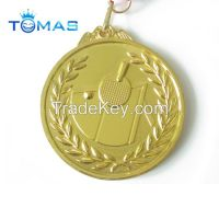 Custom high quality sports medal with ribbon