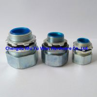 Liquid tight zinc alloy straight connector for flexible steel conduit