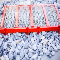 polyurethane panel screen media for crushing and screening