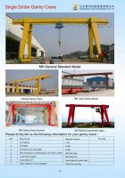 Single Girder Gantry Crane Best Quality Cheap Price