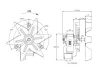 Manufacturer Oven Fan Motors YJ 6120