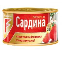 Canned seafood in tomato sauce