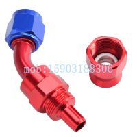 An10 Aluminum Swivel an Fitting Straight + 45 + 90 + 180 Degree Reusable Oil Hose Fitting End