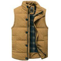 Men's Vest Warm Black Waistcoat M-3XL Size Brand Clothing Cheap Wholesale