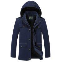 Brand Clothing Men's Coat Warm Cotton Jackets M-6XL Size Outerwear Cheap Wholesale