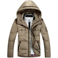 Men's Down Jackets Winter Warm Outerwear M-3XL Size Brand Clothing Cheap Wholesale