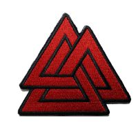 Shopatches Wholesale High quality embroidered triangle logo patches for the jacket