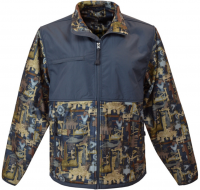 camouflaged waterproof shooting hunting fleele full zip jacket
