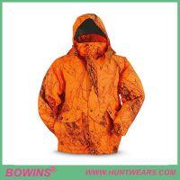 High Quality Waterproof Blaze Orange Microfiber Hunting Jacket