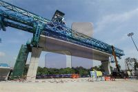 Truss type 800T girder erection bridge launcher