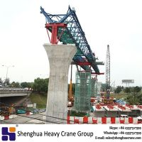 China HSHCL mtr launching gantry girder erection crane equipment