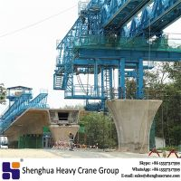 China HSHCL Segmental assembly concrete 1500T launching gantry machine for highway project