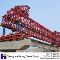 China HSHCL professional 160 ton double truss beam launcher crane