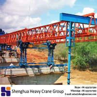 China HSHCL Truss type 260t concrete highway girder launching construction machine beam launcher manufacturer