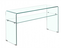 Factory Price Hot Bend Glass Living Room Furniture Console Tables
