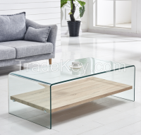 Clear Tempered Glass High Quality Home Furniture Coffee table
