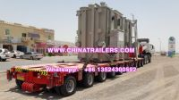 Goldhofer type 300 tons capacity hydraulic multi axle low bed self propelled modular transporter