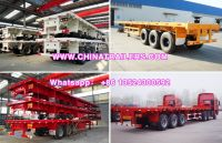 ChinaTrailers 3 Axle 40ft Flatbed Container High Bed Semi Trailer For Sale