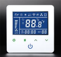 Smart Touch Screen FCU Thermostat with Modbus RS485 or WiFi by phone control