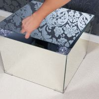 Mirrored Furniture Padem Coffee Tables Glass Mirror Bedside End Tea Tables