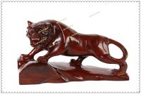 Zodiac tiger ornaments, wooden carving boutique, office feng shui ornaments