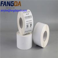 white plai water proof thermal transfer label roll