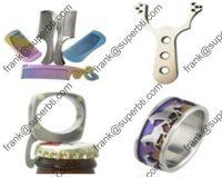 Titanium Crafts, Titanium Comb, Titanium Bracelet, Titanium Ring, Titanium Fishing Rod,