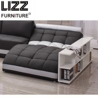 Modern Oversize Italian Leather Sofa With Chaise Sofa Bed