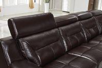 Living Room Leather Sofa Set Brownand Black
