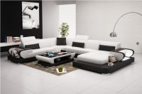 Living Room Furniture U Shape Leather Sofa