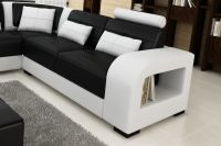 Modern Italian Leather Corner Sofa