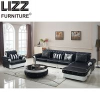 Modern Miami Furniture Leisure Sectional Leather Sofa